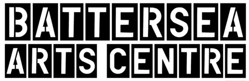 Battersea Arts Centre written in white letters. Each letter is on an individual black rectangle.