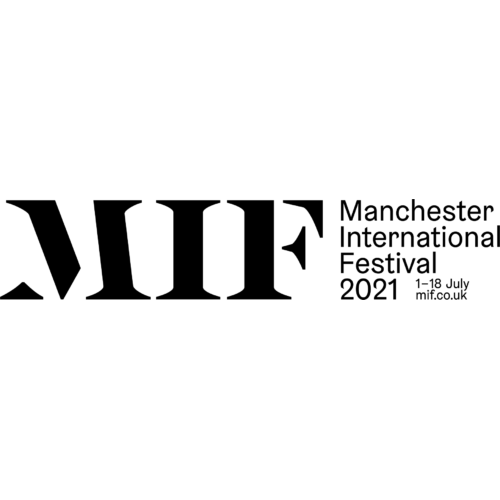 MIF next to Manchester International Festival 2021. All in black text on a white background.