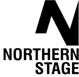 The Northern Stage Logo, a bold 'N' in Black font above text that reads Northern Stage.