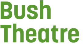 Bush Theatre in green text on a grey background.