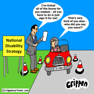 cartoon about national disability strategy