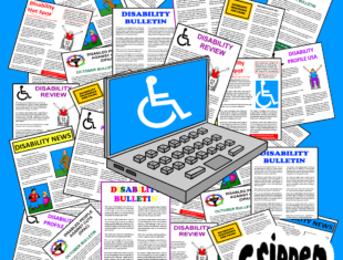 a cartoon depicting fictitious disability publications