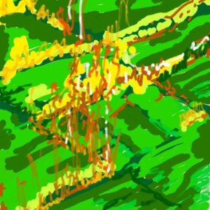 bright green digital painting