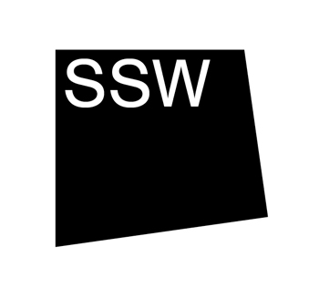 A skewed black square with the letters S S W overlaid in white text.