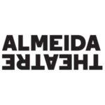 Almeida Theatre logo. ALMEIDA in bold black type above THEATRE inverted and reversed.