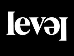 LEVEL Centre logo - in which the 'L' at the end of the word 'Level' is upside down.