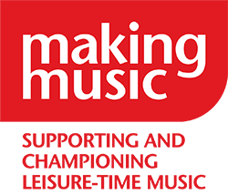 Making Music logo red with white writing and red strapline underneath reads: supporting and championing leisure-time music