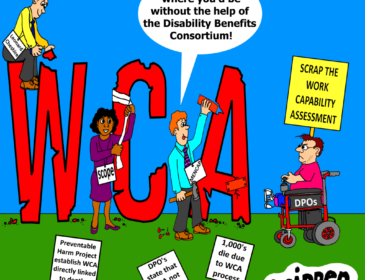 a cartoon about the Disability Benefits Consorteum supporting the WCA