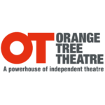Large bold orange capital letters O and T next to bold grey text of the words Orange Tree Theatre, with a tagline given beneath that says A powerhouse of independent theatre